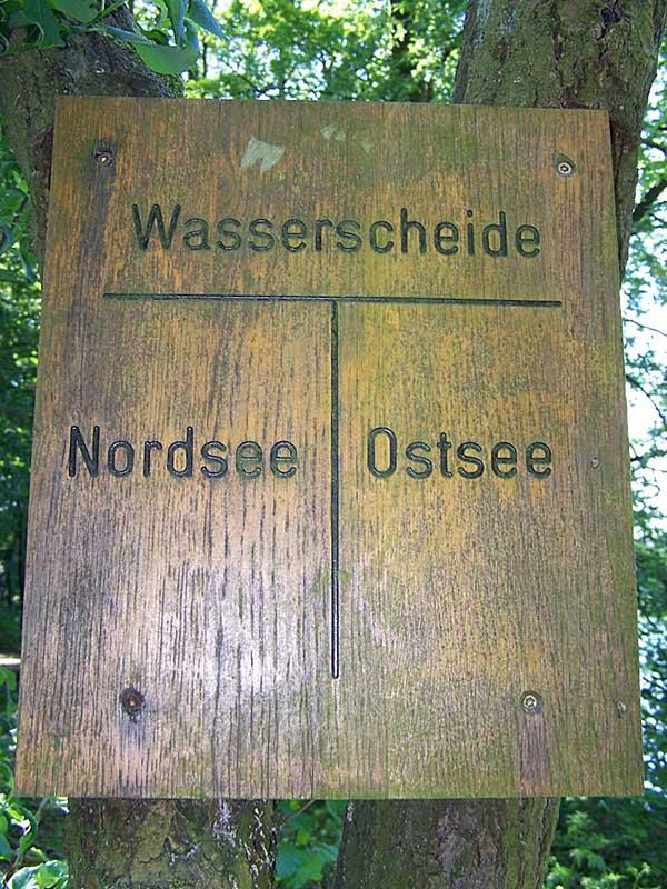 Wasserscheide zwischen Nord- und Ostsee
